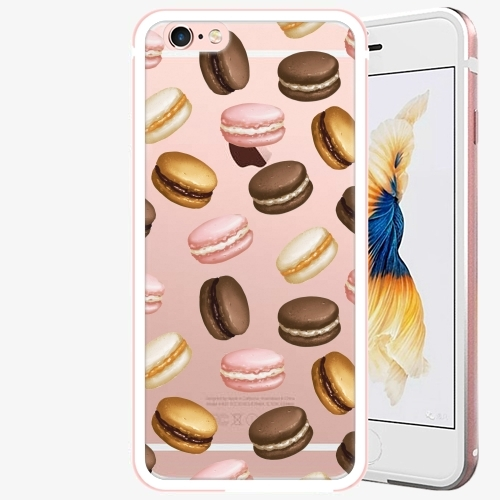 Plastový kryt iSaprio - Macaron Pattern - iPhone 6 Plus/6S Plus - Rose Gold