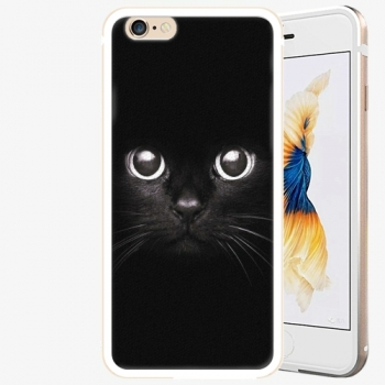 Plastový kryt iSaprio - Black Cat - iPhone 6 Plus/6S Plus - Gold