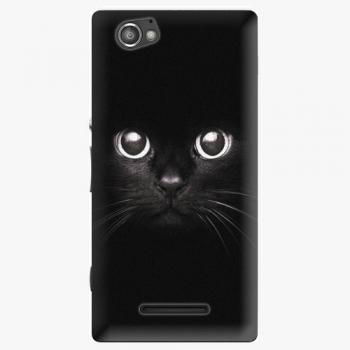 Plastový kryt iSaprio - Black Cat - Sony Xperia M