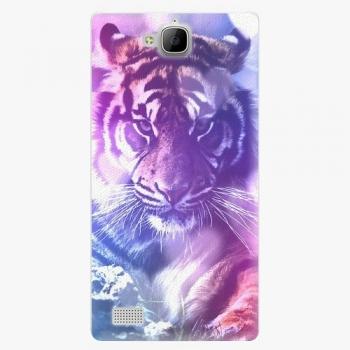 Plastový kryt iSaprio - Purple Tiger - Huawei Honor 3C