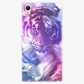 Plastový kryt iSaprio - Purple Tiger - Sony Xperia Z1