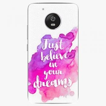 Plastový kryt iSaprio - Believe - Lenovo Moto G5