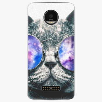 Plastový kryt iSaprio - Galaxy Cat - Lenovo Moto Z
