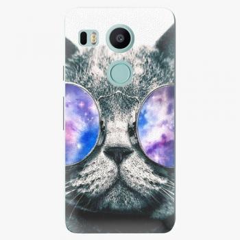 Plastový kryt iSaprio - Galaxy Cat - LG Nexus 5X
