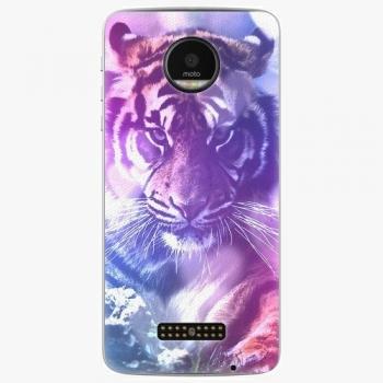 Plastový kryt iSaprio - Purple Tiger - Lenovo Moto Z