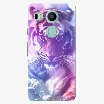 Plastový kryt iSaprio - Purple Tiger - LG Nexus 5X