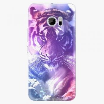 Plastový kryt iSaprio - Purple Tiger - HTC 10