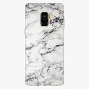 Plastový kryt iSaprio - White Marble 01 - Samsung Galaxy A8 2018
