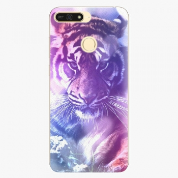 Plastový kryt iSaprio - Purple Tiger - Huawei Honor 7A