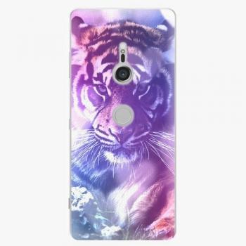 Plastový kryt iSaprio - Purple Tiger - Sony Xperia XZ3
