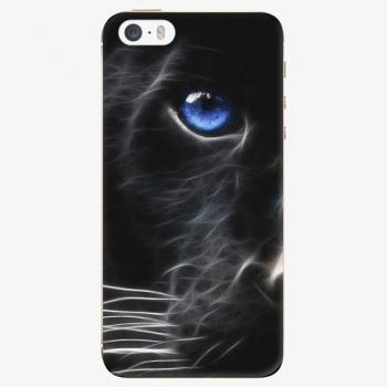 Silikonové pouzdro iSaprio - Black Puma - iPhone 5/5S/SE