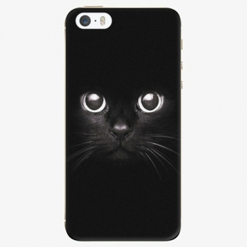 Silikonové pouzdro iSaprio - Black Cat - iPhone 5/5S/SE