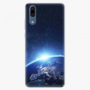 Silikonové pouzdro iSaprio - Earth at Night - Huawei P20