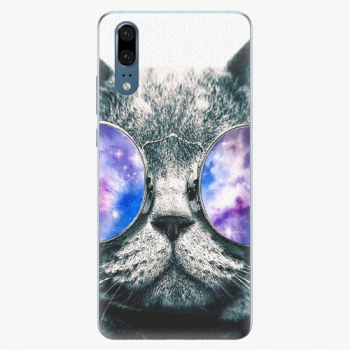 Silikonové pouzdro iSaprio - Galaxy Cat - Huawei P20