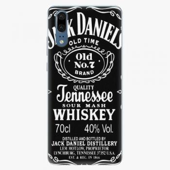 Silikonové pouzdro iSaprio - Jack Daniels - Huawei P20
